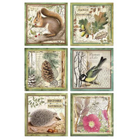 Decoupage-arkki - Framed Animals