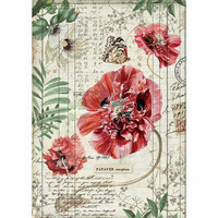 Decoupage-arkki - Poppies