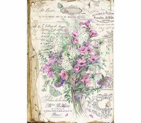 Decoupage-arkki - Bouquet - A3