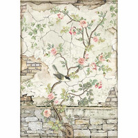 Decoupage-arkki - Little Bird on Branch - A4