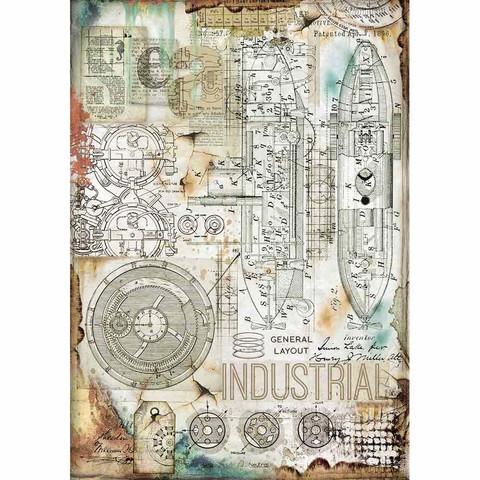 Decoupage-arkki - Industrial - A4