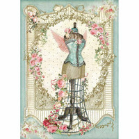 Decoupage-arkki - Mannequin with Flowers
