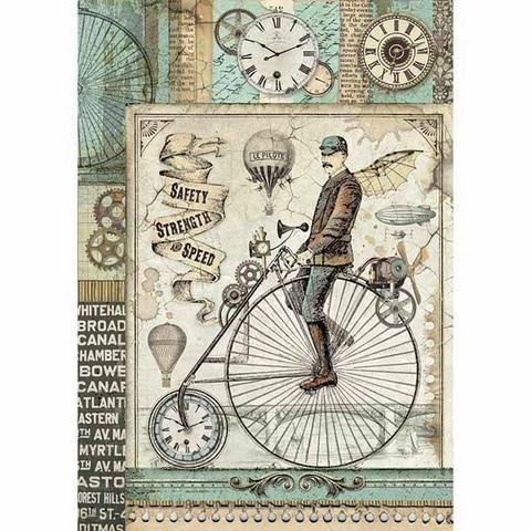 Decoupage-arkki - Voyages Fantastiques Retro Bicycle - A4