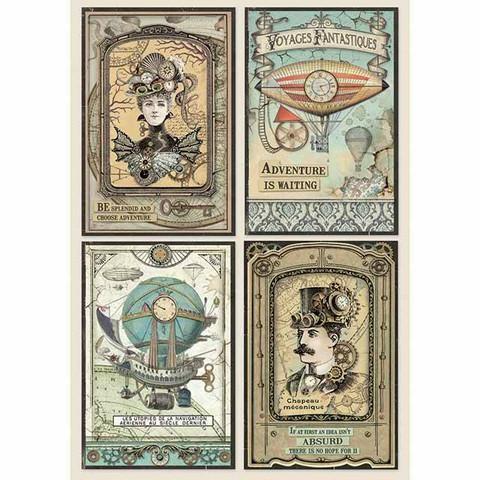 Decoupage-arkki - Voyages Fantastiques Cards - A4