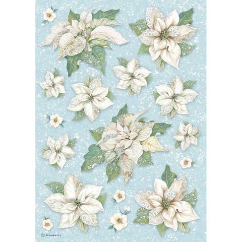 Decoupage-arkki - Poinsettia Texture - A4