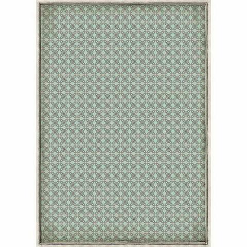 Decoupage-arkki - Turquoise Texture - A3