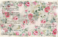 Decoupage-arkki - Paper Floral Wallpaper - Prima Redesign Decor Tissue Paper