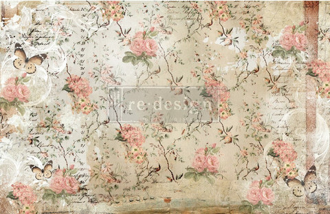 Decoupage-arkki - 48x76 cm - Botanical Imprint - Prima Redesign Decor Tissue Paper