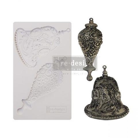 Silikonimuotti - 20x13 cm - Silver Bells - Prima Re-Design Decor Mould