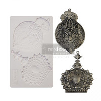 Silikonimuotti -  20 x 13 cm - Victorian Adornments - Prima Re-Design Decor Mould