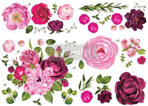 Siirtokuva - Lush Floral I - 88 x 121 cm - Prima Redesign