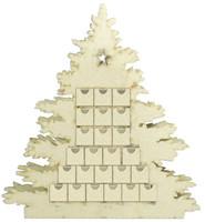Maalattava joulukalenteri - 50 x 4 x 9 cm