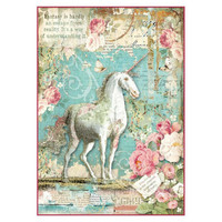 Decoupage-arkki - Wonderland Unicorn