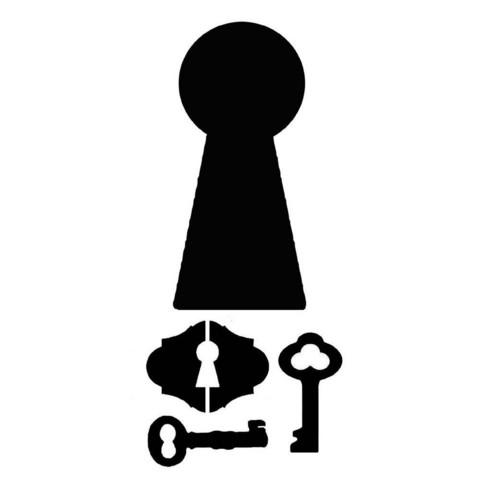 Sabluuna - Stencil Locks & Keys - 12 x 25 cm