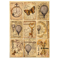 Decoupage-arkki - Mix Media Postcards - A4
