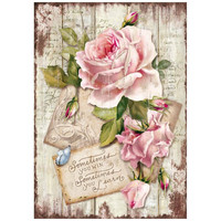 Decoupage-arkki - Sweet Time Rose - A4