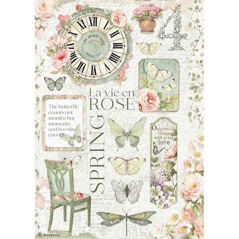 Decoupage-arkki - A4 - La Vie en Rose
