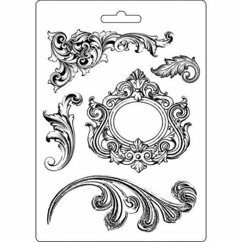 Tekstuurimuotti - 21 x 15 cm - Swirls