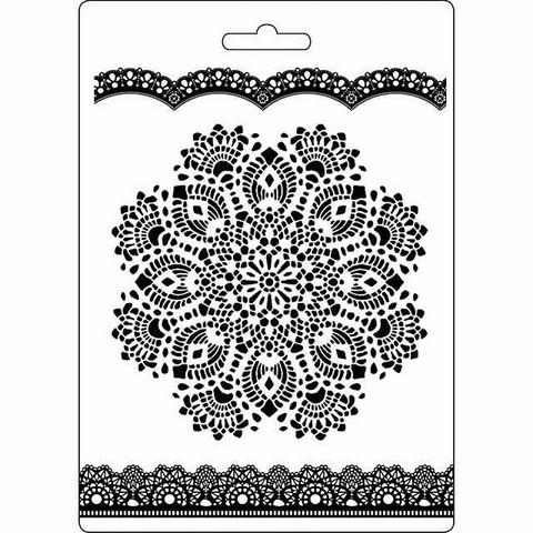 Tekstuurimuotti - 21 x 15 cm - Doily Pattern