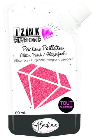 Glittermaali - Punainen - Aladine Izink - Red - 80 ml