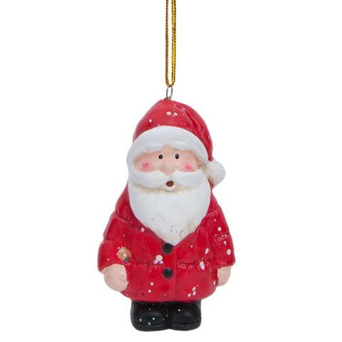 Joulupukkikoriste - 5 x 6 cm
