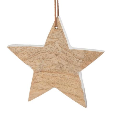 Puinen tähtikoriste - 15 x 16 cm