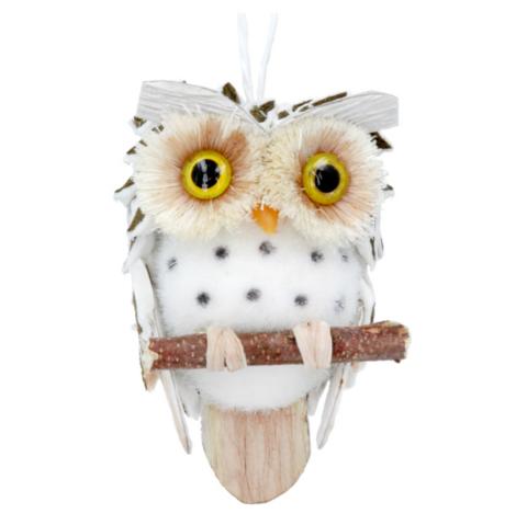 Kuusenkoriste - Helmi-pöllö - 7 cm