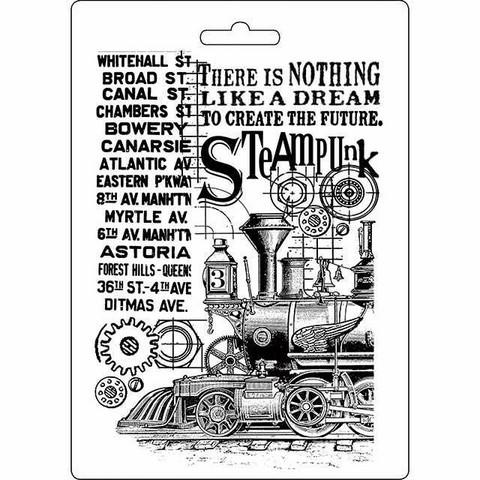 Tekstuurimuotti - 21 x 15 cm - Steampunk Train