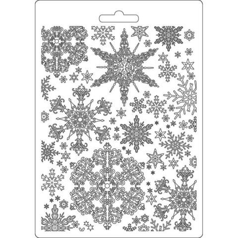 Tekstuurimuotti - 21 x 15 cm - Snowflakes