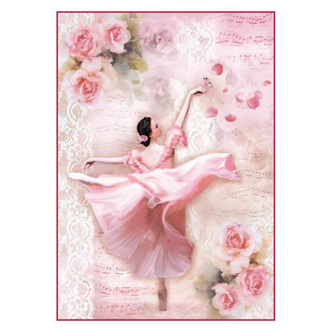 Decoupage-arkki - Dancer with Petals - A4