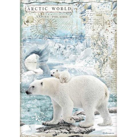 Decoupage-arkki - Artic World Polar Bears - A4