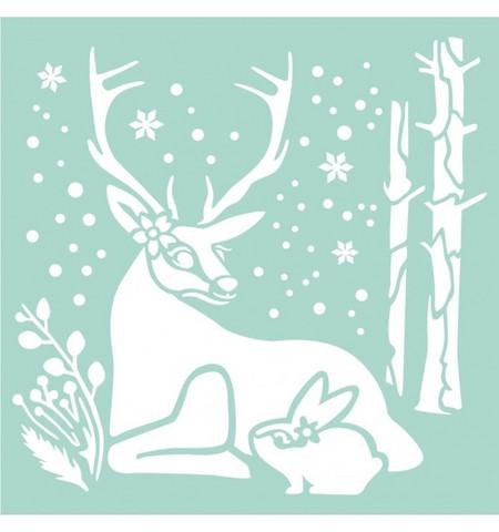 Sabluuna - Reindeer & Rabbit - 18 x 18 cm