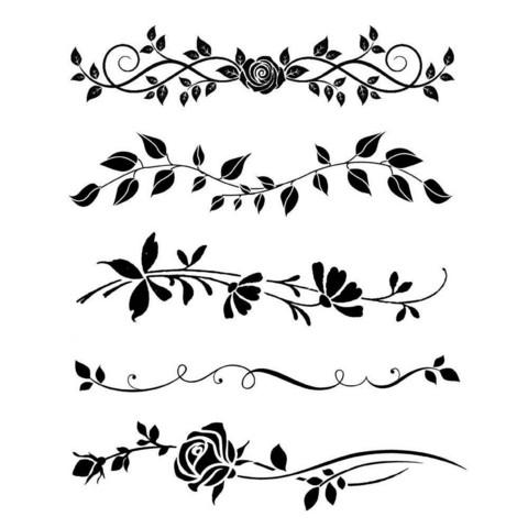 Sabluuna - Bordure Rose - 20 x 25 cm