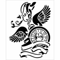 Sabluuna - Clock with Wings - 20 x 25 cm