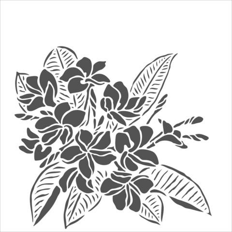 Sabluuna - Plumeria - 15 x 15 cm