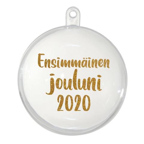 Joulupallo - Ensimmäinen jouluni 2020 - 9 cm - Kirkas