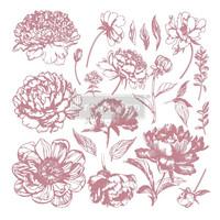 Leimasin - 30 x 30 cm - Prima Re-design Decor Stamp Linear Floral