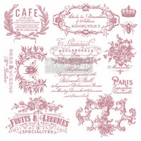 Leimasin - 30 x 30 cm - Prima Re-design Decor Stamp - I See Paris