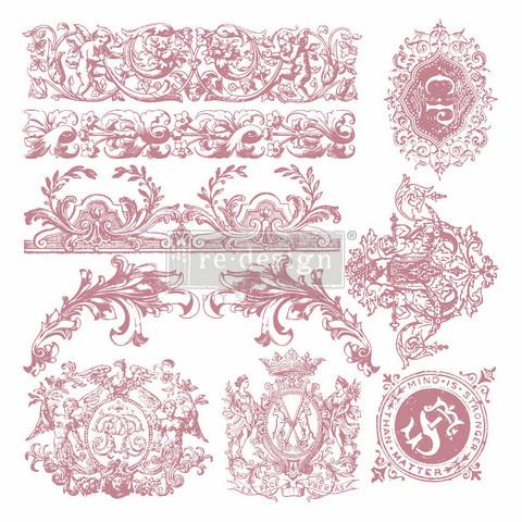 Leimasin - 30 x 30 cm - Prima Re-design Decor Stamp - Chateau De Saverne