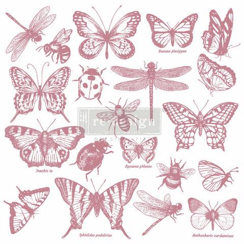 Leimasin - 30 x 30 cm - Prima Re-design Decor Stamp - Monarch Collection