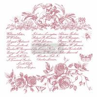 Leimasin - 30 x 30 cm - Prima Re-design Decor Stamp - Floral Script