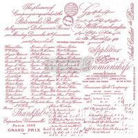 Leimasin - 30 x 30 cm - Prima Re-design Decor Stamp - Handwritten Note