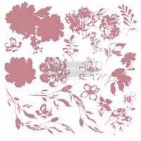 Leimasin - 30 x 30 cm - Prima Re-design Decor Stamp - Sweet Blossoms