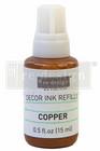 Leimasinmuste täyttöpullo 15 ml - Kupari - Redesign Decor Ink Refill