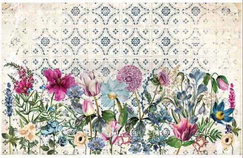 Decoupage-arkki - 48x76 cm - Fuchsia - Prima Redesign Decor Decoupage Paper
