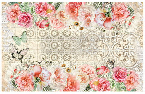 Decoupage-arkki - 48x76 cm - Living Coral - Prima Redesign Decor Decoupage Paper