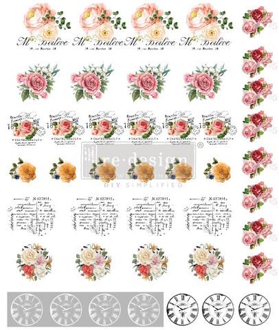 Siirtokuva - Vintage Rose - Arkin koko 26 x 21 cm - Prima ReDesign