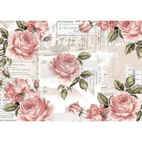 Decoupage-arkki - 29x41 cm - Floral Sweetness - Redesign Decor Rice Paper
