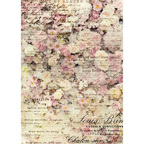 Decoupage-arkki - 29x41 cm - Floral & Dream - Redesign Decor Rice Paper