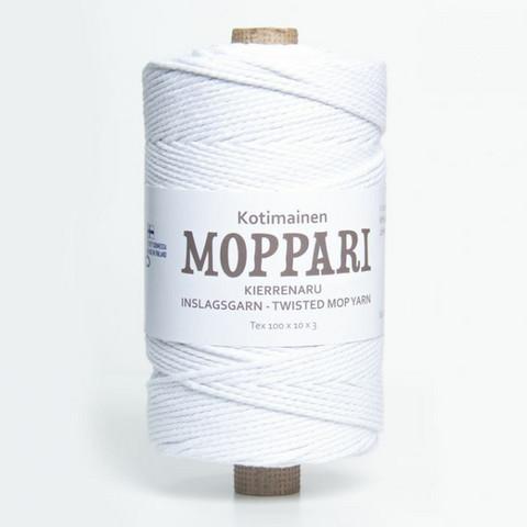 Makramee-lanka - Valkoinen Moppari - Ø 3 mm - n. 310 metriä